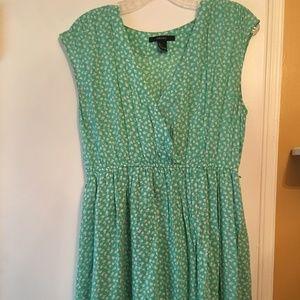 Mint green floral sundress